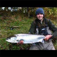 18 pound Salmon caught by Lawence Wigginton